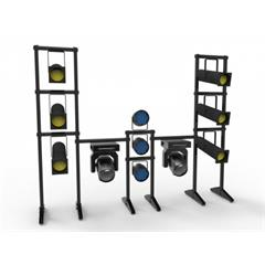 Freedom Floor Rack height 200x 60 cm with 2 tubes